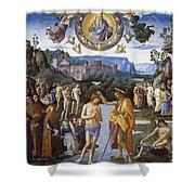 Baptism Of Christ Shower Curtain