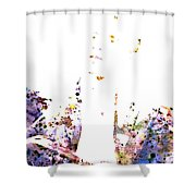 Barack Obama Shower Curtain by Brian Reaves
