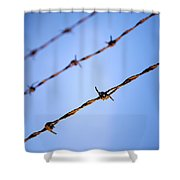 Barbed Wire Close Shower Curtain