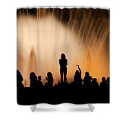 Barcelona By Night Shower Curtain
