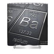 Barium Chemical Element Shower Curtain