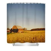 Barn And Corn Field Shower Curtain