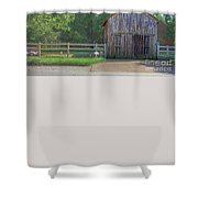 Barn By A Fence Shower Curtain