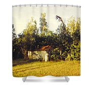 Barn Landscape Shower Curtain