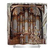 Baroque Grand Organ In Oude Kerk In Amsterdam Shower Curtain
