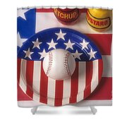 Baseball Dinner Shower Curtain