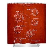 Baseball Training Device Patent Drawing From 1963 Shower Curtain