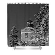 Bass Harbor Lighthouse Mount Desert Island Maine Shower Curtain