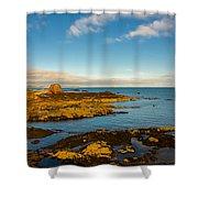 Bass Rock From Dunbar Shower Curtain