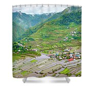 Batad Village And Unesco World Heritage Shower Curtain