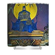 Batman On The Roof Top Shower Curtain