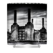 Battersea Power-station London Shower Curtain