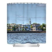 Battery Homes Shower Curtain