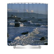 Battery Point Lighthouse At Sunset Shower Curtain