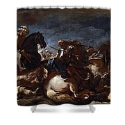 Battle Of Saint-quentin Shower Curtain