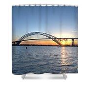 Bayonne Bridge Sunset Shower Curtain