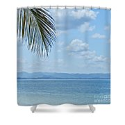 Beach Background Shower Curtain