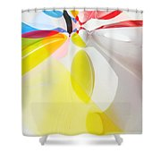 Beach Ball Flower Shower Curtain