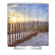 Beach Fences Shower Curtain