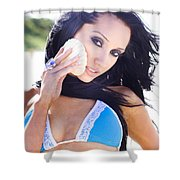 Beach Sightseeing Tour Shower Curtain