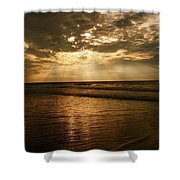 Beach Sunrise Shower Curtain by Nelson Watkins