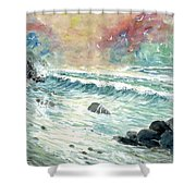 Beach Tide Shower Curtain