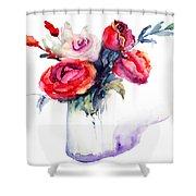 Beautiful Roses Flowers Shower Curtain