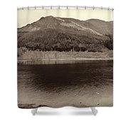 Beauty Of A Loch And Natural Surroundings In The Scottish Highlands Shower Curtain