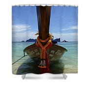 Beauty Of Boats Thailand 1 Shower Curtain