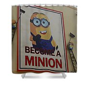 Become A Minion Shower Curtain