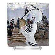 Bedlington Terrier Art Canvas Print Shower Curtain