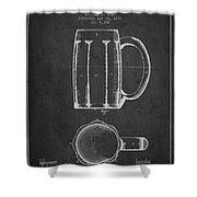 Beer Mug Patent From 1876 - Dark Shower Curtain