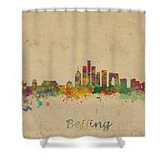 Beijing China Skyline Shower Curtain