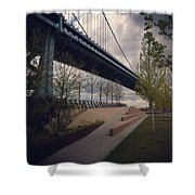 Ben Franklin Bridge Shower Curtain by Katie Cupcakes