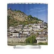 Berat Old Town In Albania Shower Curtain