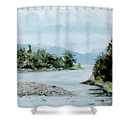 Berks Lake Shower Curtain