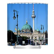 Berlin Cathedral And Tv Tower Shower Curtain