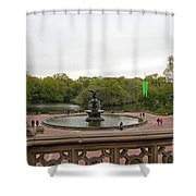 Bethesda Fountain Nyc Shower Curtain