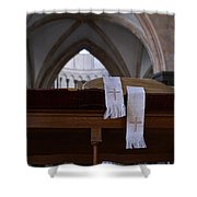 Bible In Temple Shower Curtain