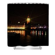 Big Ben And The House Of Parliment On The Thames Shower Curtain