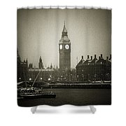 Big Ben On A Wintery Day Shower Curtain