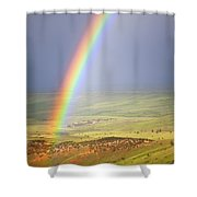 Big Horn Rainbow Shower Curtain