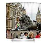 Big Lion Little Ben Shower Curtain