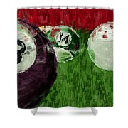 Billiards Abstract Shower Curtain