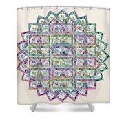 1 Billion Dollars Geometric Tan Shower Curtain