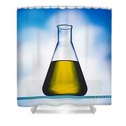 Biodiesel In Erlenmeyer Flask  Shower Curtain