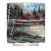 Birch Lake Shower Curtain