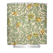 Bird Wallpaper Design Shower Curtain