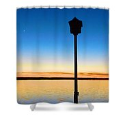Birdhouse With A View Shower Curtain