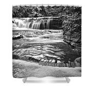 Black And White Cascade Shower Curtain